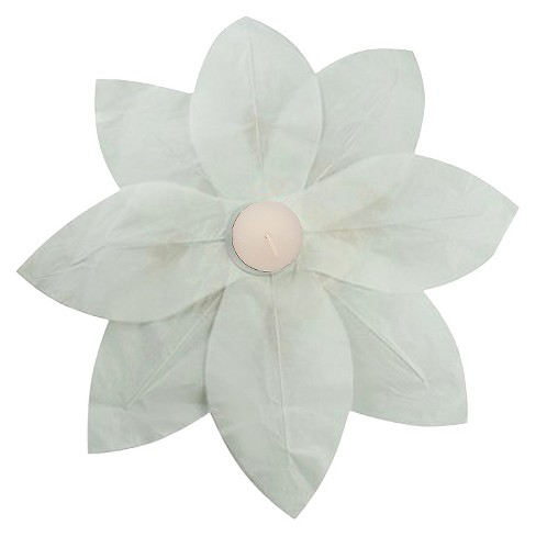 6ct Lumabase White Floating Lotus Paper Lantern - image 1 of 2