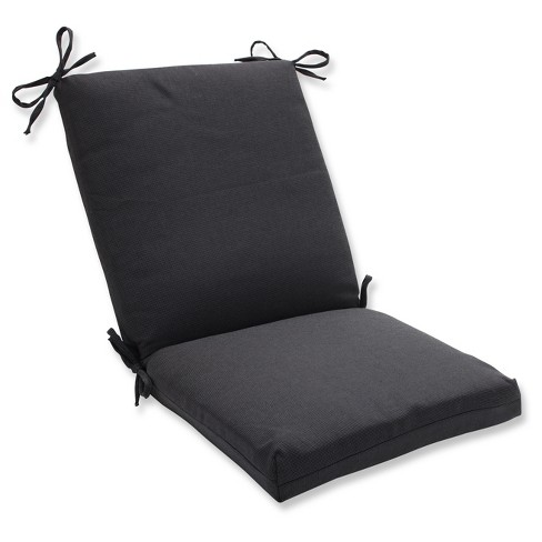 Pillow Perfect Tweed Outdoor One Piece Seat And Back Cushion - Black - image 1 of 1