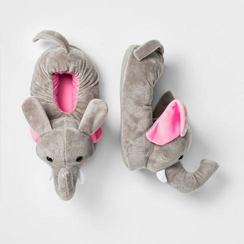 aa3b71f7d9d Girls  Elephant Bootie Slippers - Cat   Jack™ Grey   Target