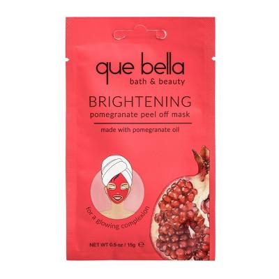 Que Bella Brightening Pomegranate Peel Off Face Mask - 0.5oz