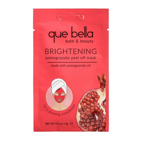 Que Bella Brightening Pomegranate Peel Off Face Mask - 0.5oz - image 1 of 4