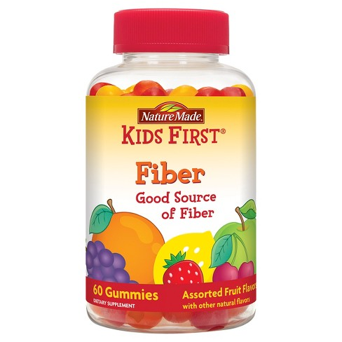 Nature Made Kids First Fiber Gummies - Fruit Flavors - 60ct - image 1 of 4