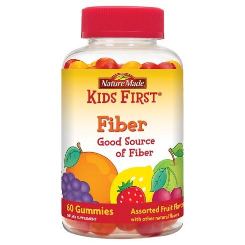 Nature Made Kids First Fiber Gummies - Strawberry, Lemon & Orange - 60ct - image 1 of 4