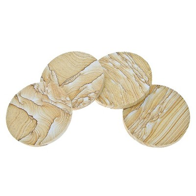 Thirstystone Natural Sandstone Coasters - Set of 4