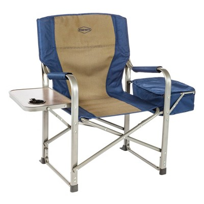 Kamp-Rite CC118 Outdoor Camp Folding Director's Chair with Side Table & Cooler