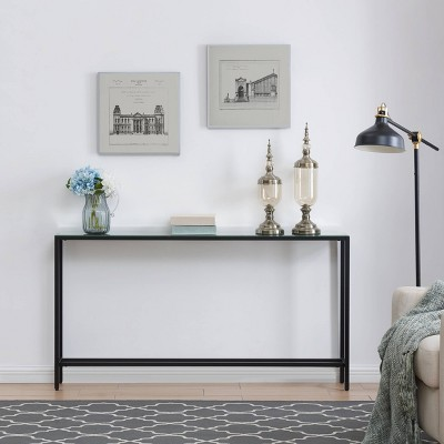 Dillard Narrow Long Console Table Black - Aiden Lane