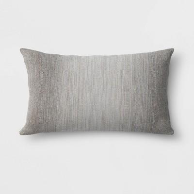 Sunbrella Motion Smoke Outdoor Oversize Woven Lumbar Throw Pillow Gray - Project 62™