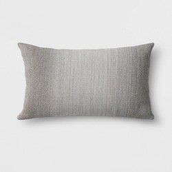 Sunbrella Motion Smoke Outdoor Oversize Woven Lumbar Throw Pillow Gray - Project 62™