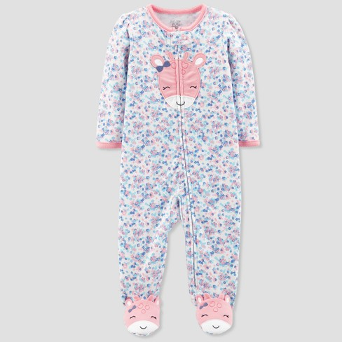 8a37601e8 Baby Girls  Floral Giraffe Cotton Sleep N  Play - Just One You® Made ...