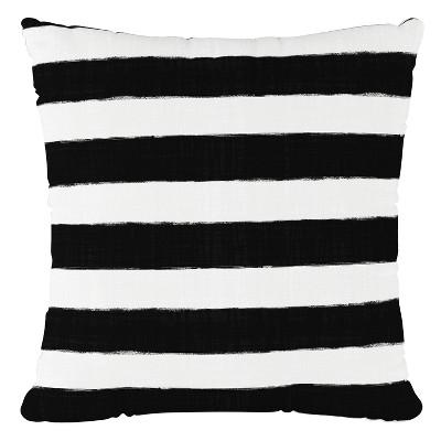 Black/White Stripe Throw Pillow - Cloth & Company