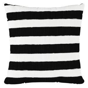 Black White Stripe Throw Pillow Skyline Furniture Target