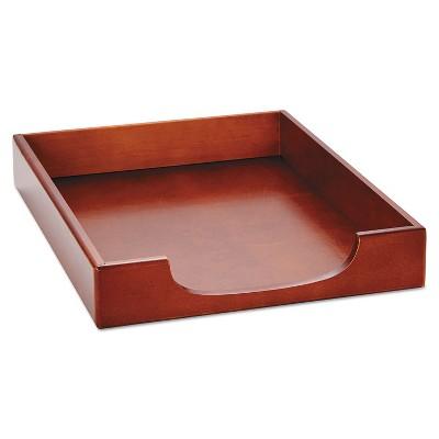 Rolodex Wood Tones Letter Desk Tray Wood Mahogany 23350