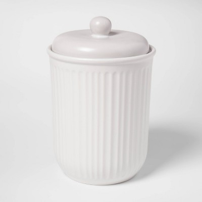 100oz Stoneware Food Storage Canister White - Threshold™