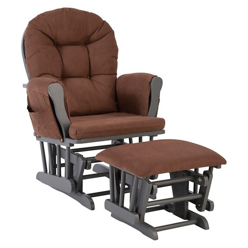 Stork Craft Hoop Gray Glider and Ottoman - Chocolate - image 1 of 1