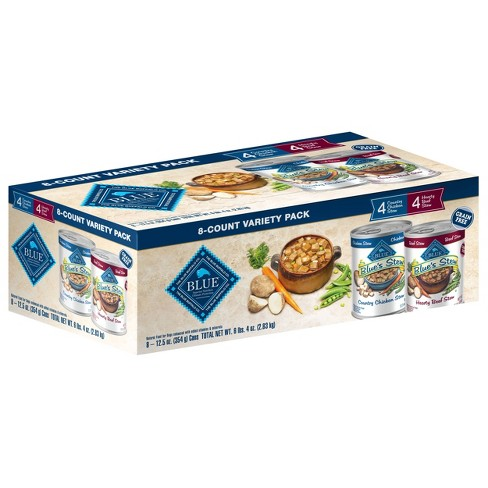 Blue Buffalo Blue's Stew Grain Free Country Chicken & Hearty Beef Wet Dog Food - 12.5oz/8ct Variety Pack - image 1 of 4