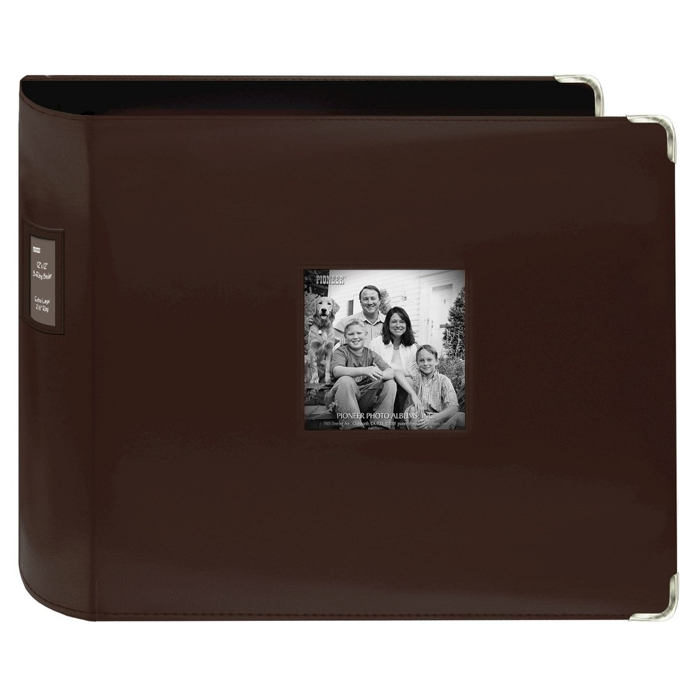 Image of Leatherette Scrapbook 3 Ring Binder - Brown