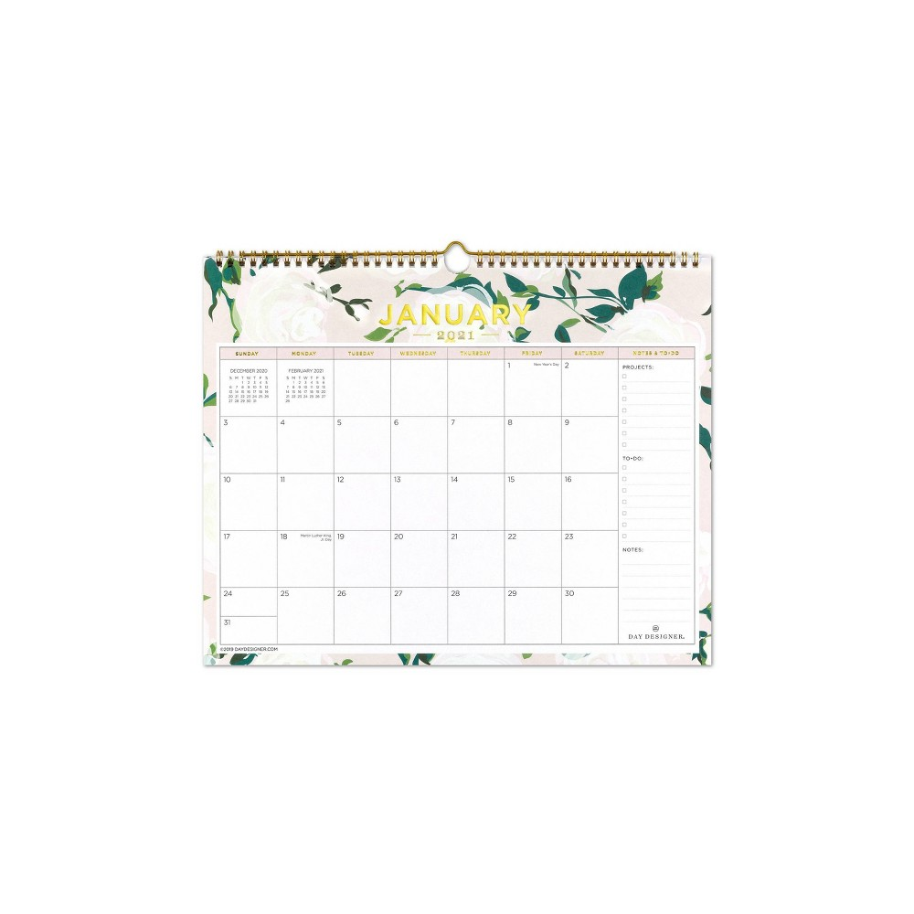 "Image of ""2020-2021 Academic Wall Calendar 15""""x12"""" Coming Up Roses - Day Designer"""