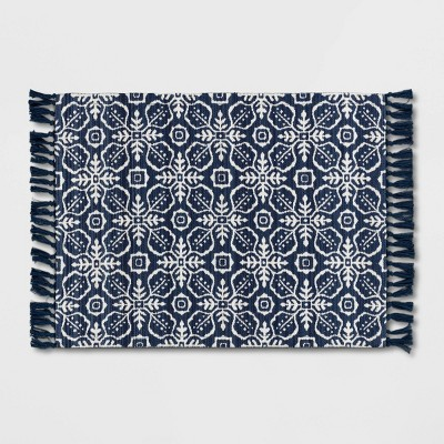 2'x3' Indoor/Outdoor Blue Tile Scatter Blue - Opalhouse™