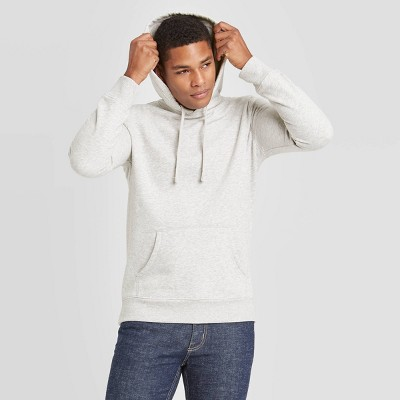 Men's Regular Fit Fleece Pullover Hoodie - Goodfellow & Co™ Light Gray