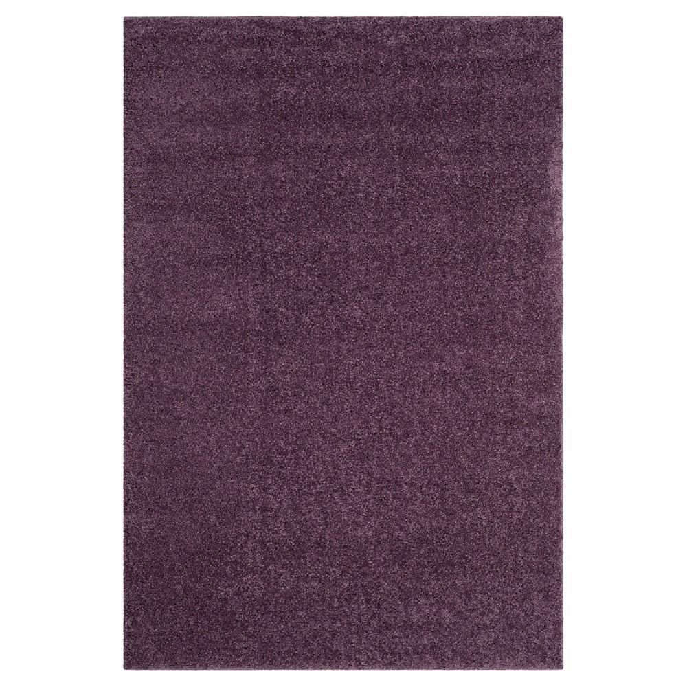 Purple Solid Loomed Area Rug - (5'1
