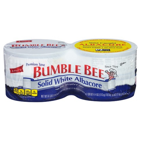 Bumble Bee Solid White Albacore Tuna in Water - 5oz/4ct - image 1 of 4