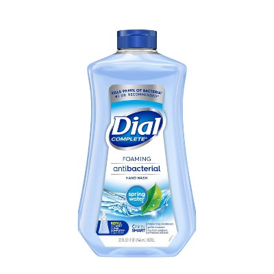 Dial Complete Antibacterial Foaming Hand Wash Refill - Spring Water - 32 fl oz