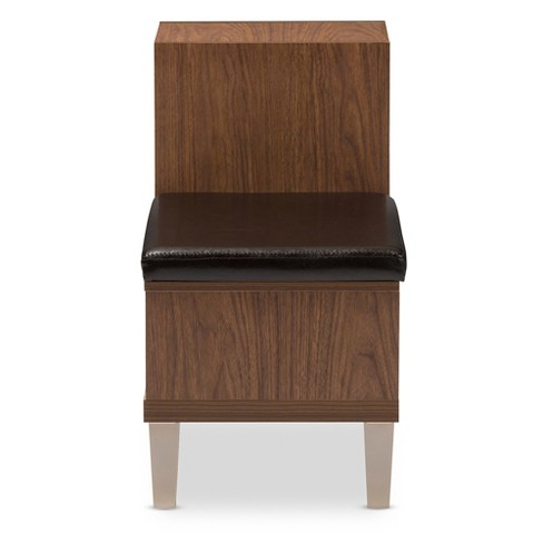 Arielle Modern And Contemporary Wood 3 Drawer Shoe Storage Padded