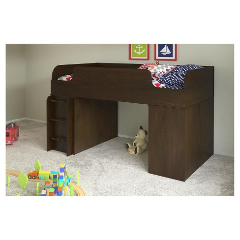Elements Loft Kids Bed with Bookcase and Toy Box Bookcase with Door ...