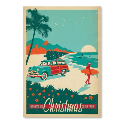 Americanflat X Mas Surfs Up by Anderson Design Group Poster