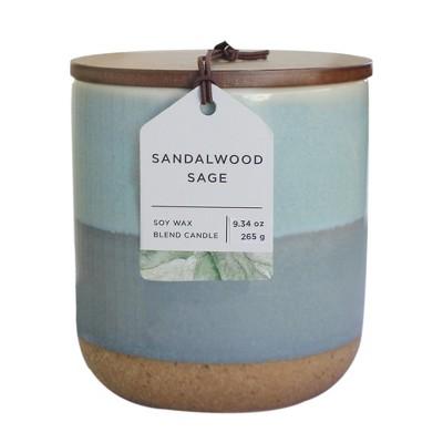 9.34oz Glazed Jar Candle Sandalwood Sage - Chesapeake Bay Candle