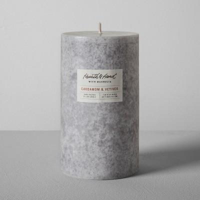 Pillar Candle (4 x7 )- Cardamom & Vetiver - Hearth & Hand™ with Magnolia