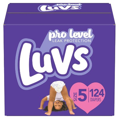 Luvs Pro Level Leak Protection Diapers Giant Pack - Size 5 - 124ct