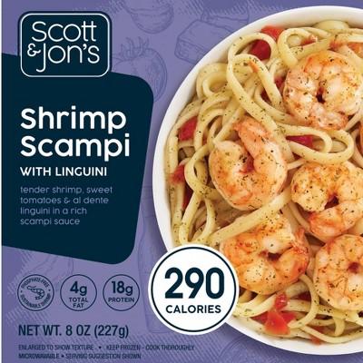 Scott & Jon's Shrimp Scampi Frozen Pasta Bowl - 8oz