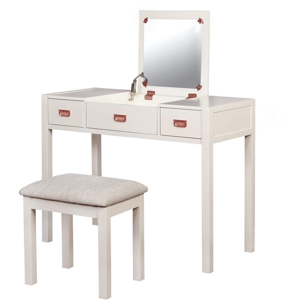 Audrey Vanity Set - White - Linon Audrey Vanity Set - White - Linon