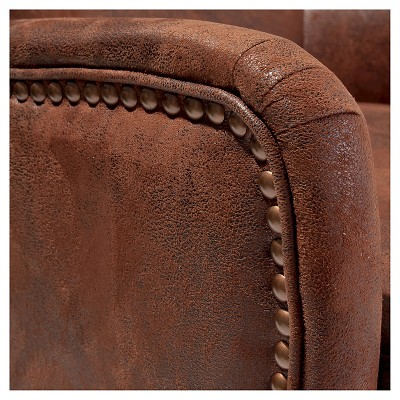 Lorenzo Studded Club Chair Brown - Christopher Knight Home : Target