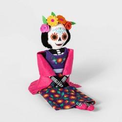 Da de Muertos Floral Dress Skeleton