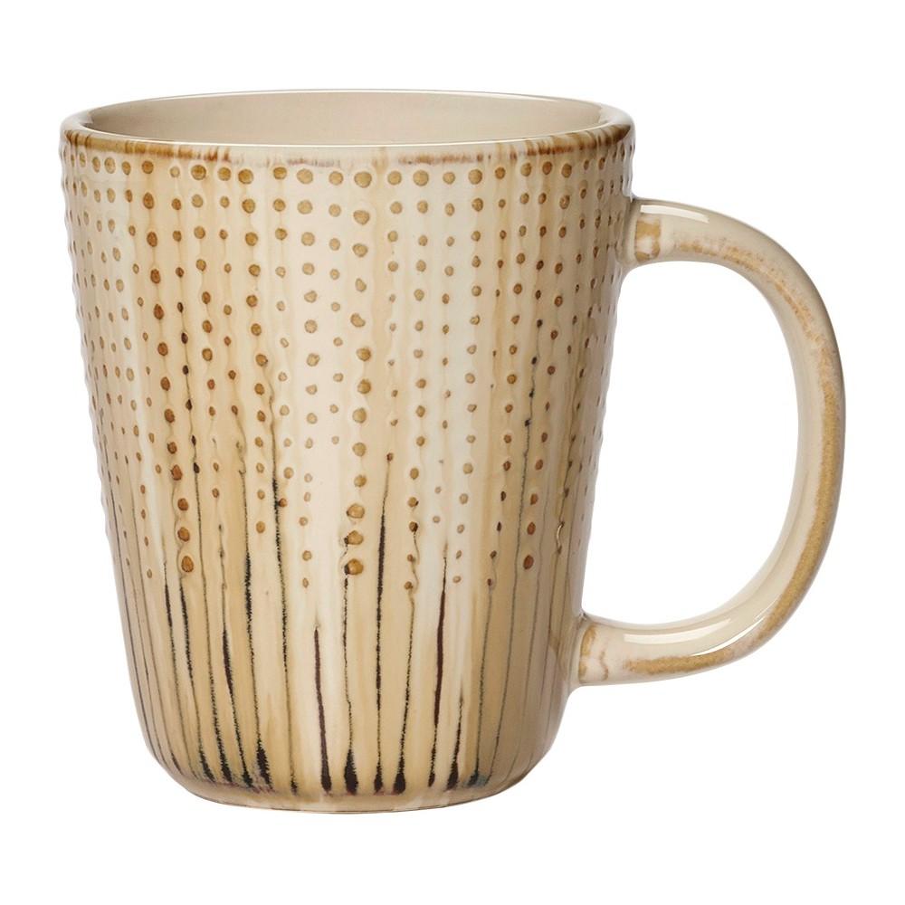 Image of Pfaltzgraff Expressions 11oz 4pk Mugs Capri, Beige Beige