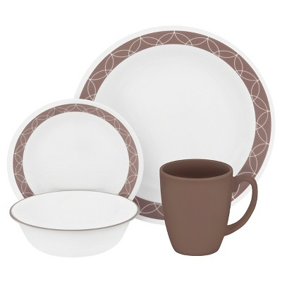 Corelle® Livingware™ Glass 16pc Dinnerware Set Sand Sketch