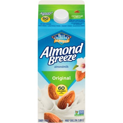 Blue Diamond Almond Breeze Original Almond Milk - 0.5gal