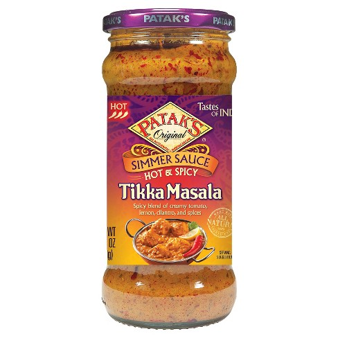 Patak's Hot & Spicy Tikki Masala Curry Simmer Sauce 12.3 oz - image 1 of 1