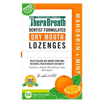 TheraBreath Dry Mouth Mint Lozenges - 100ct
