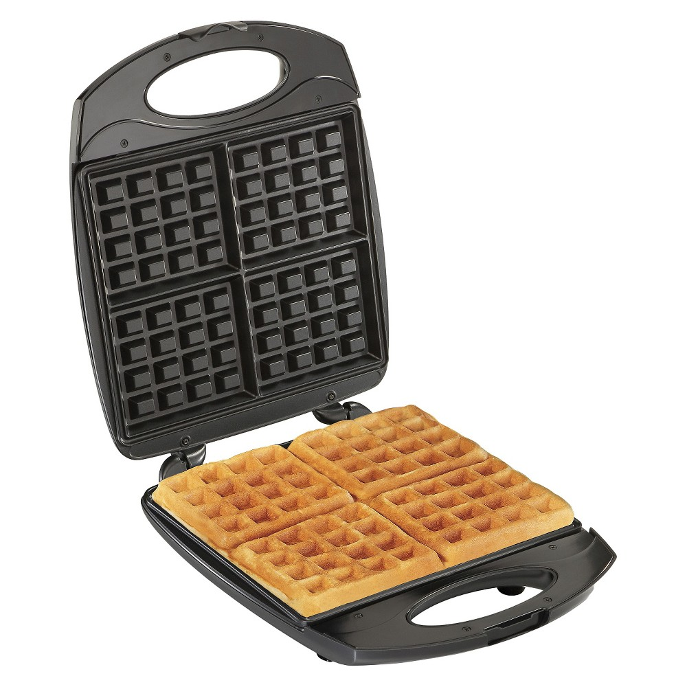 Hamilton Beach 4 Square Belgian Waffle Maker – Stainless Steel (Silver) 50702164