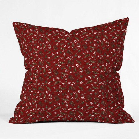 Iveta Abolina Nordic Olive Throw Pillow Red - Deny Designs - image 1 of 1
