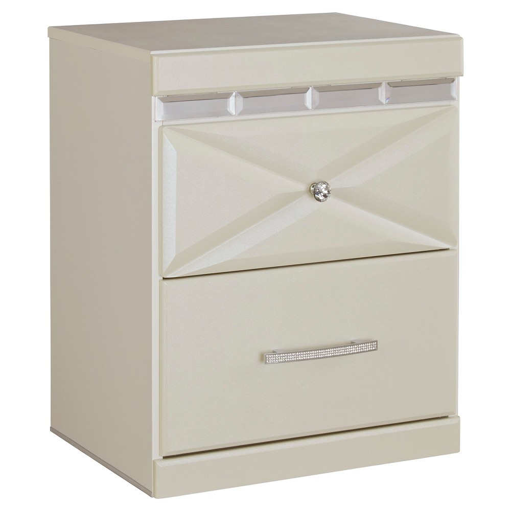 Dreamur Two Drawer Nightstand Champagne - Signature Design by Ashley, White