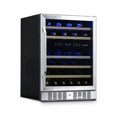 NewAir 46 Bottle Dual Zone Built-In Compressor Wine Cooler - Stainless Steel AWR-460DB