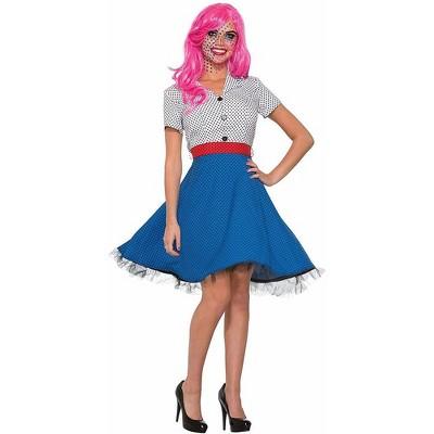Pop Art Ms. Dottie Costume Dress Adult Women