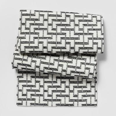 White Modern Tile Woven Table Runner - Project 62™