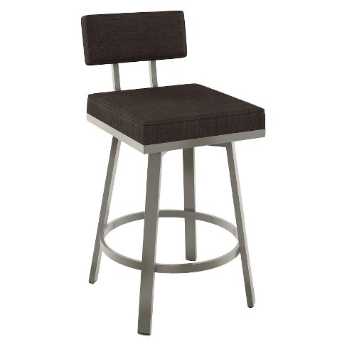 "Amisco Staten 26"" Counter Stool - Dark Gray - image 1 of 2"