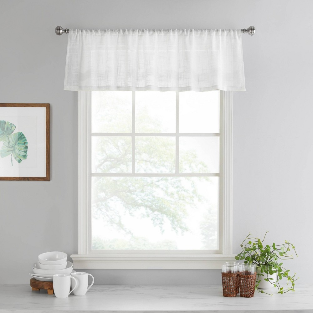"Image of ""14""""x52"""" Bayside Valance White - Vue"""