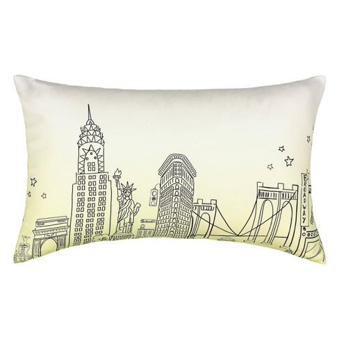 """12""""x20"""" Cityscape Throw Pillow - Spree By Waverly - image 1 of 2"""
